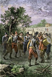 New England colonial militia, 1600s