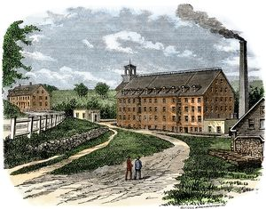 New England textile factory, 1800s