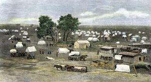 Oklahoma City settlement during the Land Rush, 1889