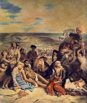 Ottoman Turk massacre of Greeks at Chios, 1822
