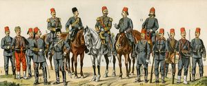 Ottoman Turk military officers, 1900