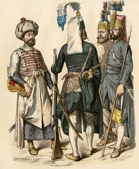 Ottoman Turk soldiers, early 1700s