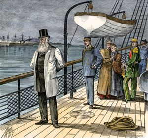 Pedro II leaving Brazil, 1889