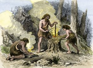 Prehistoric use of friction to make fire