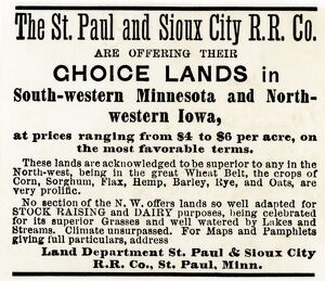 Railroad land for sale in Iowa and Minnesota