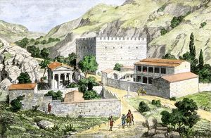 Road from ancient Athens to Eleusis