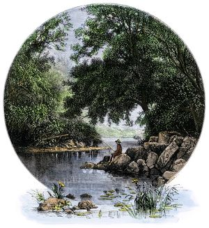 Rock Creek in Washington DC, 1800s