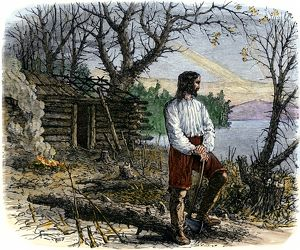 Roger Williams making a home in Rhode Island, 1636
