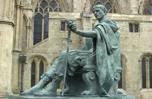 Roman Emperor Constantine I (the Great) in York, GB