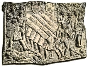 Romans battling Germans, Column of Trajan