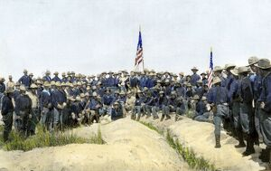 Roosevelt and the Rough Riders on San Juan Hill, 1898