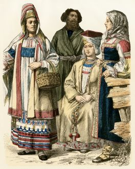Russian women and a Finn