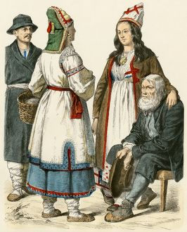 Russians from the Volga and Mordovia, 1800s