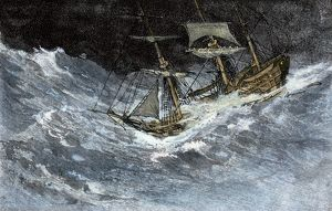 Sailing in stormy seas