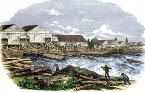 Sawmills in Maine, 1850s