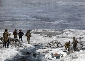 Schwatka's discovery of Franklin expedition grave, 1880