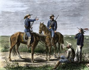 Scouts for General Custer, Indian wars