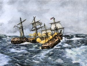 Sea battle of the 'Wasp' and 'Frolic,' War of 1812