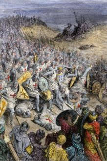 Seljuk Turks defeated at Dorylaeum, First Crusade