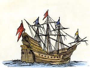 Ship in the 1600s