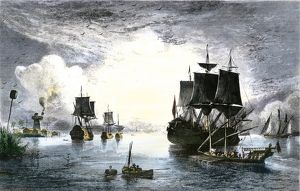 Ships entering the Mississippi River from the Gulf of Mexico, 1700s