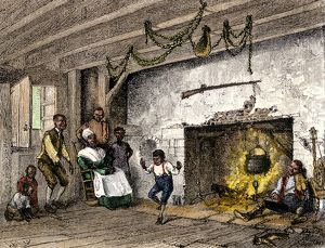 Slave family in colonial New York