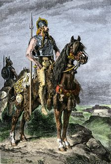 Soldiers on horseback in ancient Gaul