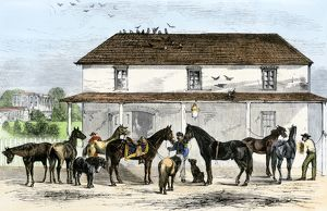 Stable behind the White House, 1869