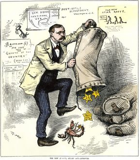 Star Route scandal cartoon, 1881