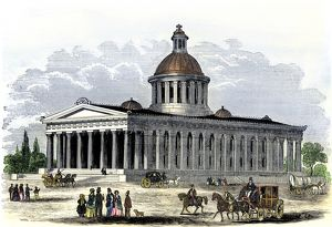 State capitol of Indiana, 1850s