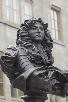 Statue of Louis XIV in old Quebec