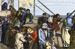 Steerage passengers bound for America, 1800s