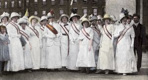 Suffragette parade leaders in New York City, 1912