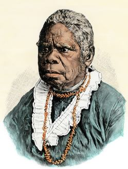 Last surviving Tasmanian aboriginal woman, 1876