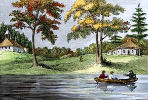 Swedish colonists on the Delaware River
