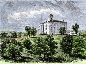 Texas state capitol before 1881, Austin