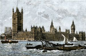 Thames River in London, mid-1800s