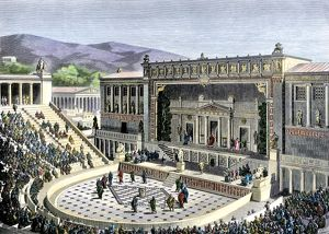 Theatrical performance in ancient Athens