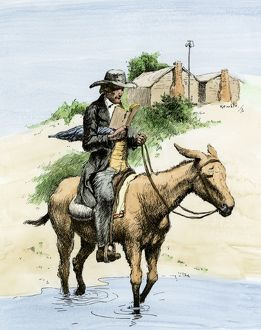 Traveling minister on the American frontier
