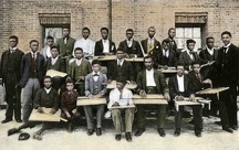 Tuskegee Institute mechanical drawing class, 1890s
