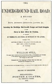 Underground Railroad account by William Still