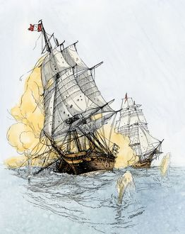 US-French naval battle in the Quasi-War with France, 1798-1800