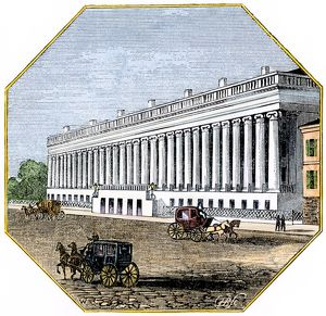 U.S. Treasury Building, Washington DC, 1850s