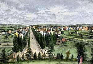 Washington DC from Capitol Hill in 1800