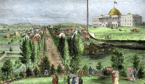 Washington DC and the original Capitol building, 1810