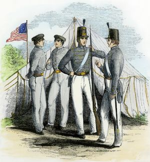 West Point cadets, 1850s