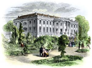 White House in the 1850s