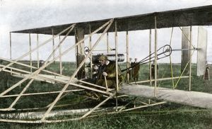 Wilbur Wright giving flying lessons in France