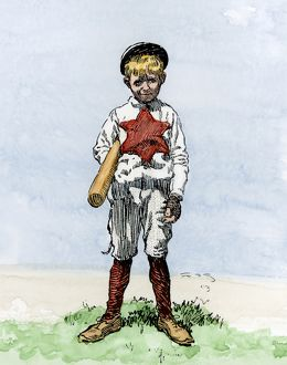 Young baseball-player, early 1900s